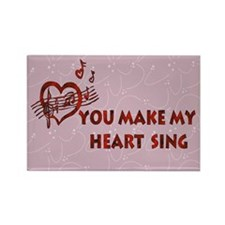 Heart Song Valentine Rectangle Magnet