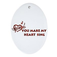 Heart Song Valentine Oval Ornament