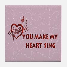 Heart Song Valentine Tile Coaster