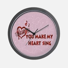 Heart Song Valentine Wall Clock