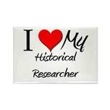 I Heart My Historical Researcher Rectangle Magnet
