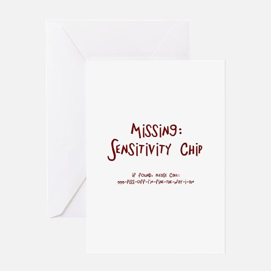 Missing: Sensitivity Chip Greeting Card