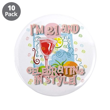 """21st in Style 3.5"""" Button (10 pack)"""