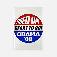Fired up! Obama '08 Rectangle Magnet