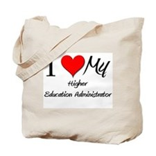 I Heart My Higher Education Administrator Tote Bag