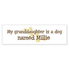 Granddaughter named Millie Bumper Bumper Sticker