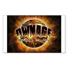 IO» OWNAGE GAME CLAN Rectangle Decal