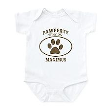 Pawperty of MAXIMUS Infant Bodysuit