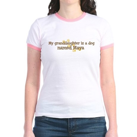 Granddaughter named Maya Jr. Ringer T-Shirt