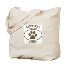 Pawperty of LUCKY Tote Bag