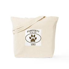 Pawperty of LOKI Tote Bag