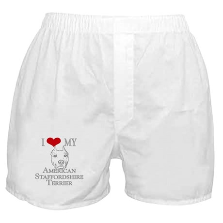 I Love My AmStaff Boxer Shorts
