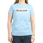Save our courts Women's Pink T-Shirt