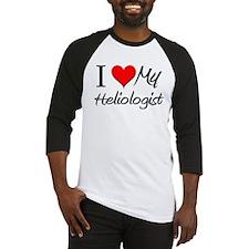 I Heart My Heliologist Baseball Jersey
