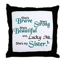 Lucky Me 1 (Sister OC) Throw Pillow