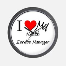 I Heart My Health Service Manager Wall Clock