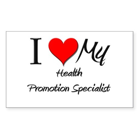 I Heart My Health Promotion Specialist Sticker (Re