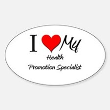 I Heart My Health Promotion Specialist Decal
