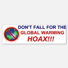 Global Warming Hoax Bumper Bumper Bumper Sticker