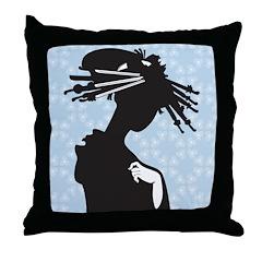 Japanese Geisha Art Throw Pillow