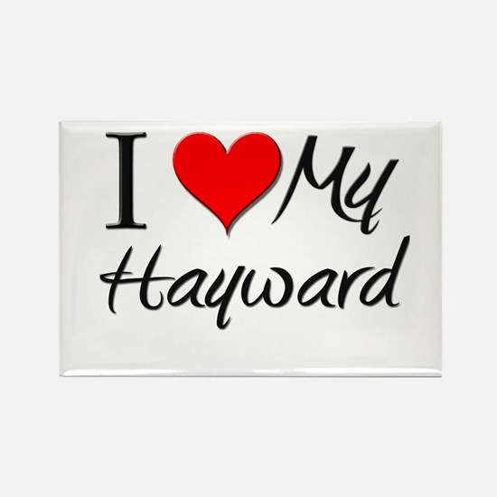 I Heart My Hayward Rectangle Magnet