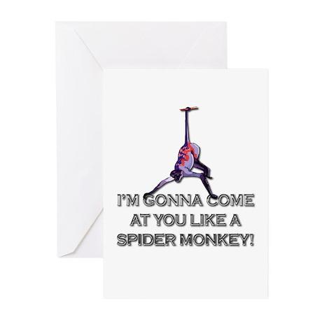 Talladega Nights - Spider Monkey Greeting Cards (P