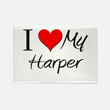 I Heart My Harper Rectangle Magnet