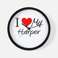 I Heart My Harper Wall Clock