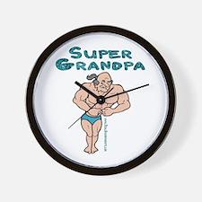 Super Grandpa Gifts Wall Clock