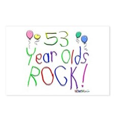 53 Year Olds Rock ! Postcards (Package of 8)