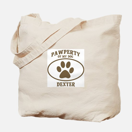 Pawperty of DEXTER Tote Bag