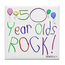 50 Year Olds Rock ! Tile Coaster