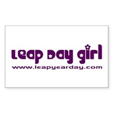 Leap Day Girl Rectangle Decal