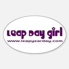 Leap Day Girl Oval Decal