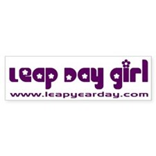 Leap Day Girl Bumper Bumper Sticker