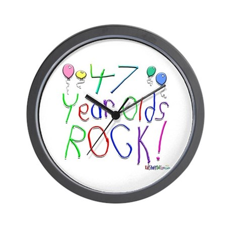 47 Year Olds Rock ! Wall Clock