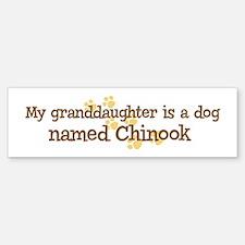 Granddaughter named Chinook Bumper Bumper Bumper Sticker