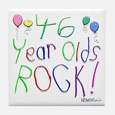 46 Year olds Rock ! Tile Coaster