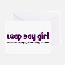 Leap Day Girl Greeting Card