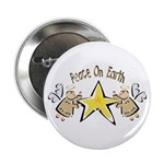 Angel Peace On earth Button