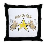 Angel Peace On earth Throw Pillow