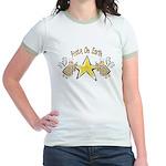 Angel Peace On earth Jr. Ringer T-Shirt