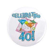 "Celebrating 40 3.5"" Button"