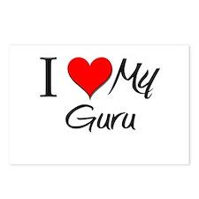 I Heart My Guru Postcards (Package of 8)