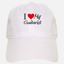 I Heart My Guitarist Baseball Baseball Cap