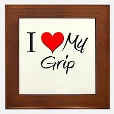 I Heart My Grip Framed Tile