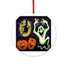 Funny Jack o lantern Ornament (Round)