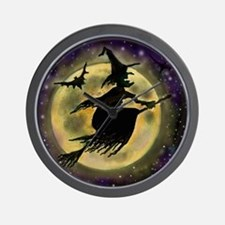 Cute Witches Wall Clock