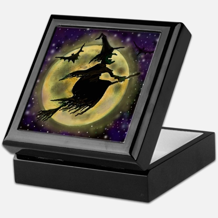 Cute Witch Keepsake Box