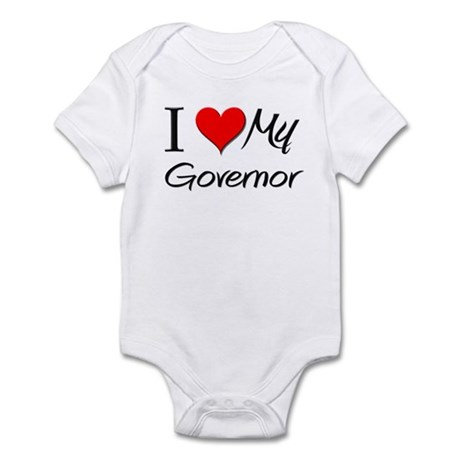 I Heart My Governor Infant Bodysuit
